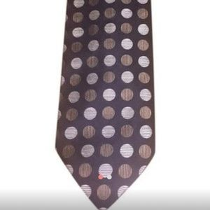 Balmain Vintage Couture Brown and Cream Tie